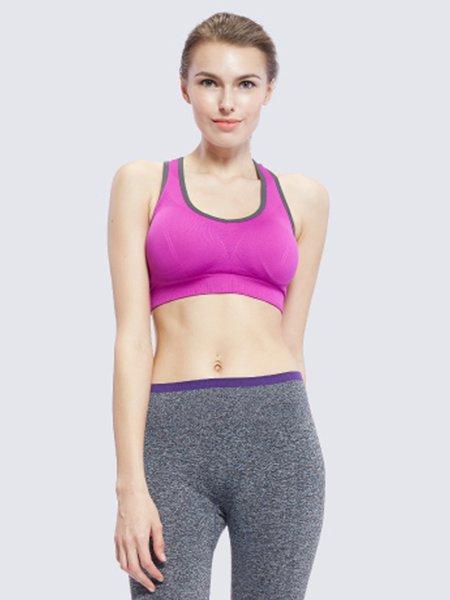 Purple Breathable Sports Bra
