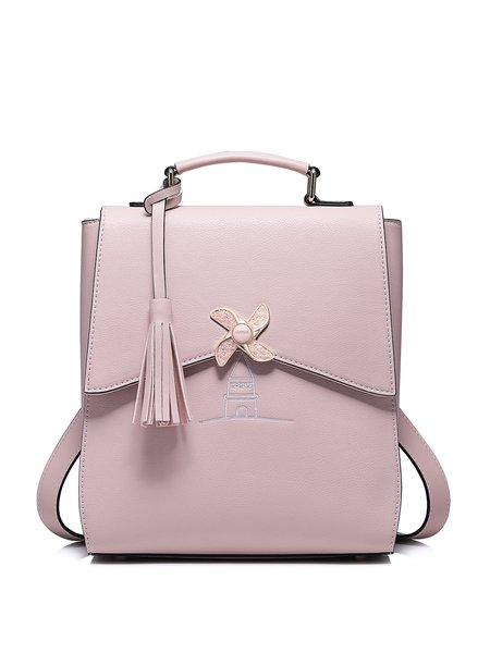 Pink Sweet Magnetic Crossbody Bag with Tassel