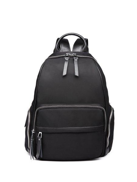 Large Black Oxford Zipper Backpack