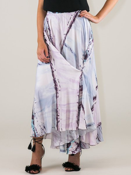 Purple Abstract Printed Boho 2-way Maxi Skirt