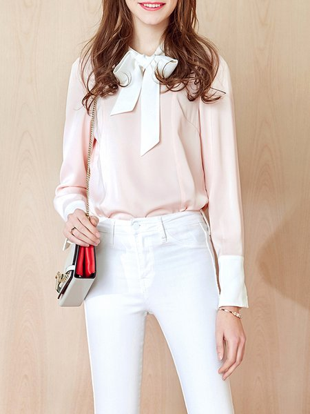 Pink Girly Bow Blouse