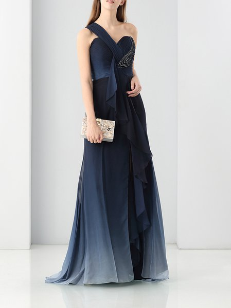 Beaded Sleeveless Cocktail Evening Dress