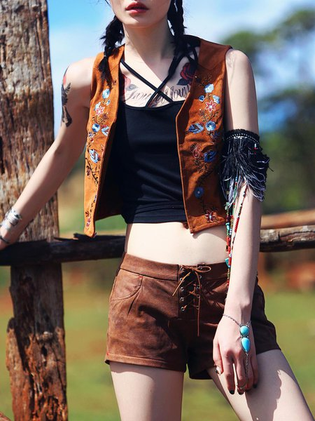 Tribal Boho  Sleeveless Fringed Vests And Gilet