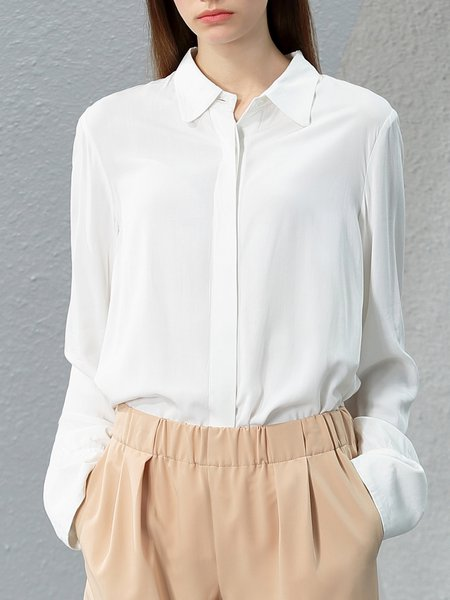 Solid Simple Blouse
