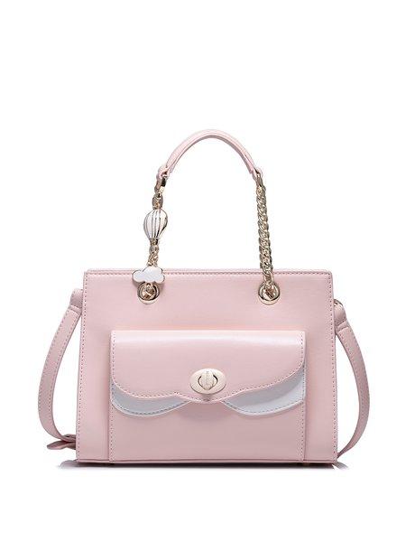 Pink PU Sweet Twist Lock Top Handle