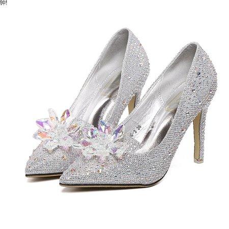 Silver Spring/Fall Party & Evening Synthetic Fibre Stiletto Heel Beading Heels
