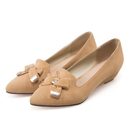 Wedge Heel Bowknot Daily Heels