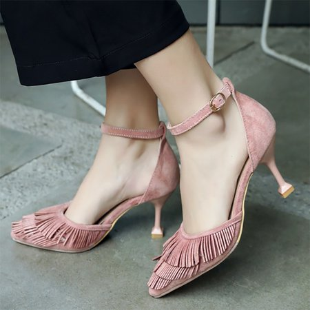 Fringes Daily Stiletto Heel Sandals