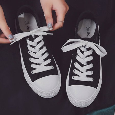 6da4b820f6be Low Heel Lace-Up Casual Shoes – ChicsMall