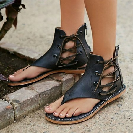 Lace-up Spring PU Sandals