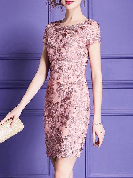 Midi Dress Sheath Daytime Elegant Floral Dress