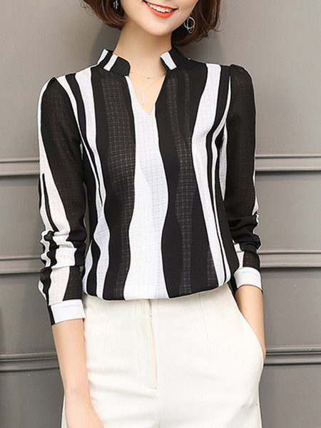 Printed Stripes Elegant Blouse