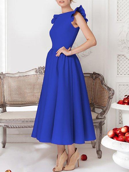 Ruffled Sleeveless Maxi Dress