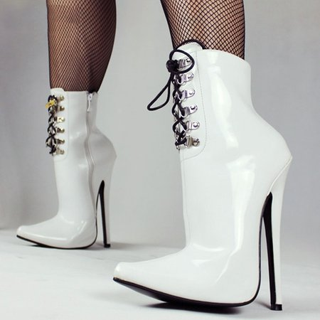 Lace-up Stiletto Heel PU Boots