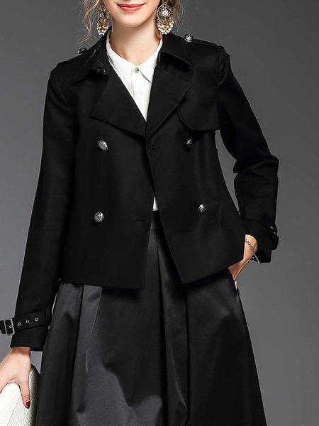 Buttoned Long Sleeve Pea Coat