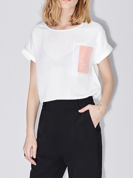 Solid Simple Shift T-Shirt