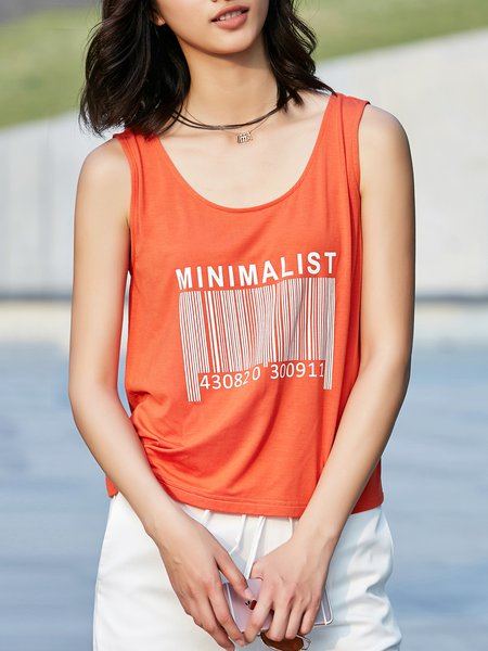 Sleeveless Casual Tank