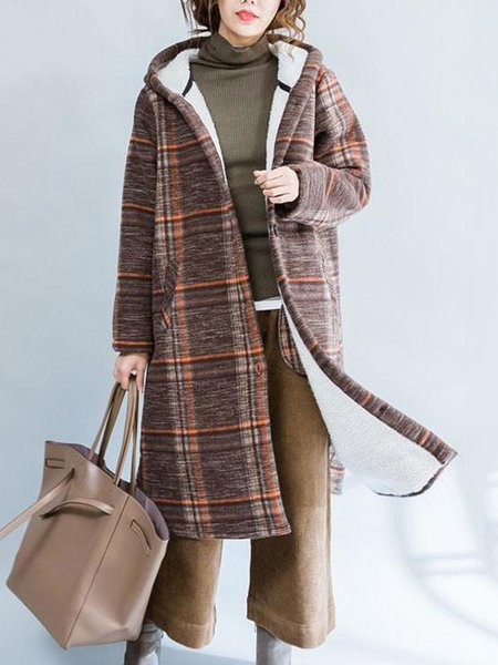 Buttoned Casual Cotton Long Sleeve Hoodie Linen Outerwear