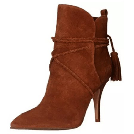Brown Stiletto Heel Spring/Fall Casual PU Boots