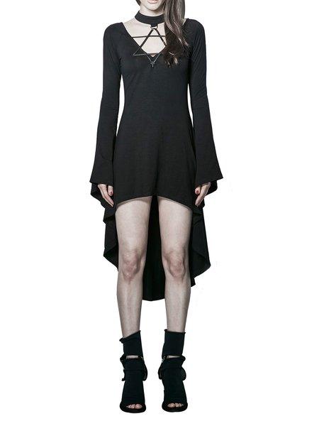 Black Bandage Asymmetric Sexy A-line Midi Dress