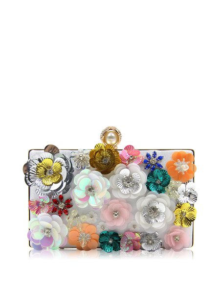 Multicolor Push Lock Clutch