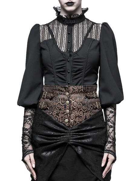 Balloon Sleeve Guipure Lace Statement Top
