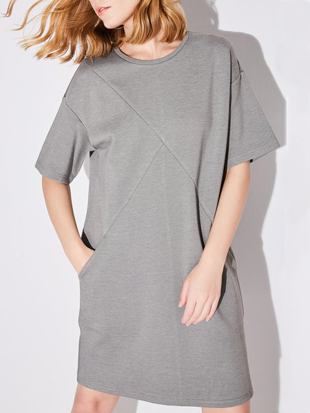 Pockets Casual Shift Midi Dress
