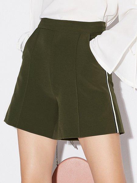 Plus Size Simple Shorts