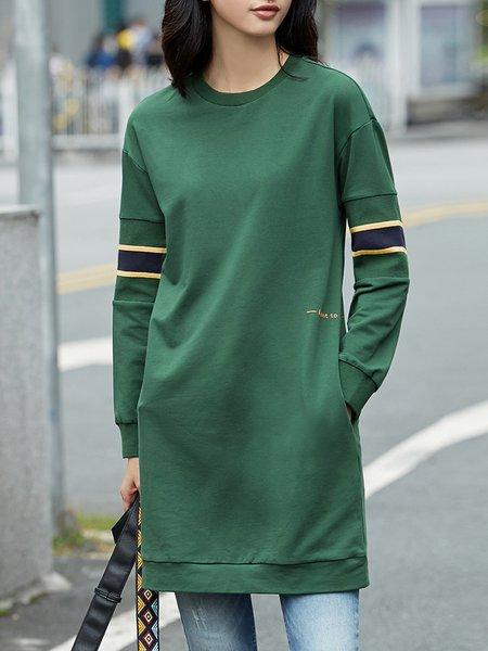 H-line Long Sleeve Midi Dress