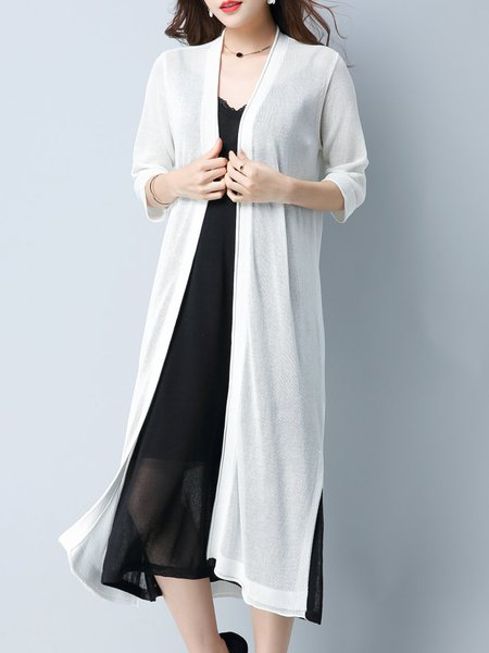 3/4 Sleeve Simple H-line Cardigan
