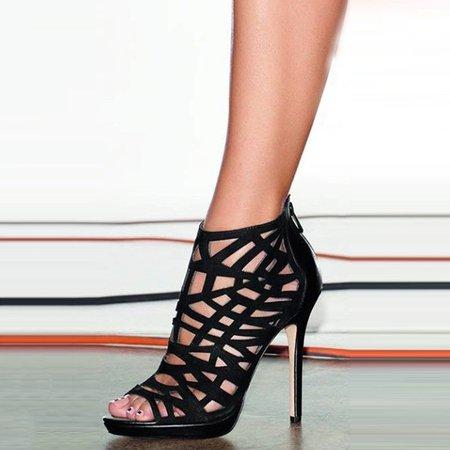 Black Suede Stiletto Heel Spring/Fall Heels