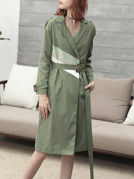 Long Sleeve Lapel Elegant Trench Coat
