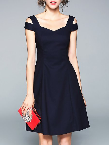 Elegant A-line Sleeveless Midi Dress