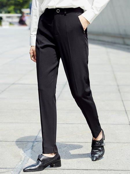 Solid Simple Straight Leg Pant