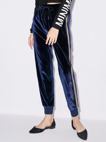 Simple Solid Straight Leg Pant