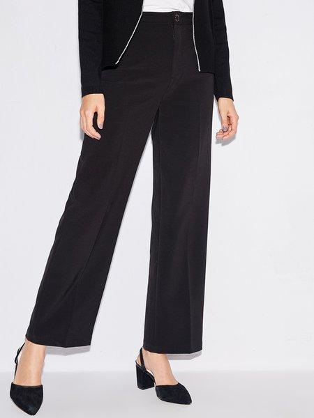 Solid Simple Wide Leg Pants