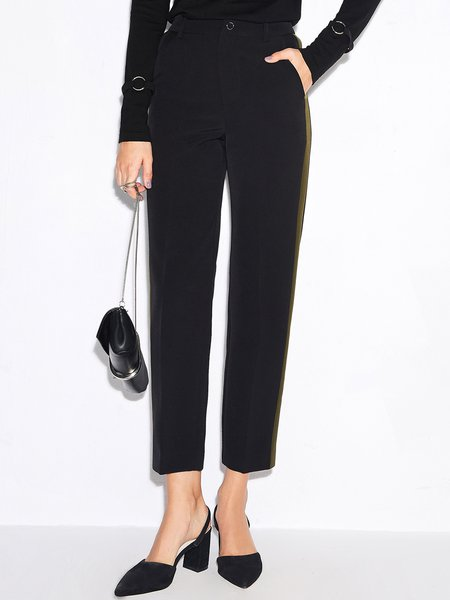Solid Simple Straight Leg Pant