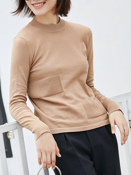 Solid Long Sleeve Long Sleeved Top