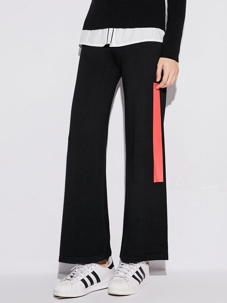 Black Simple Wide Leg Pants