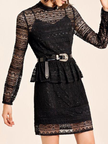 Sexy Cotton Long Sleeve Midi Dress
