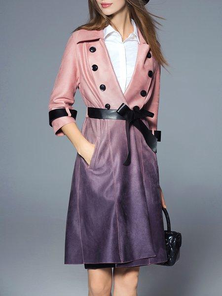 Lapel Casual 3/4 Sleeve Coat