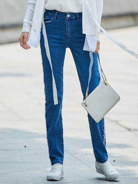 Blue Denim Casual Jeans