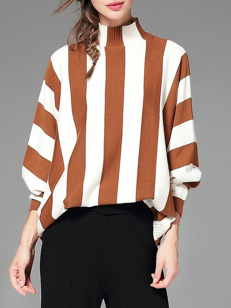 Batwing Casual Turtle Neck Sweater