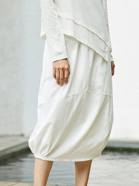 Cocoon Simple Midi Skirt