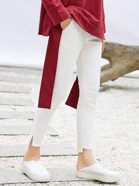 Linen Simple Skinny Leg Pants