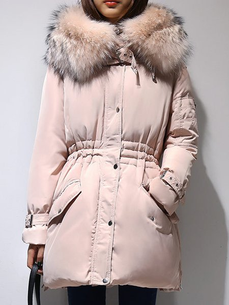 A-line Long Sleeve Casual Down Coat
