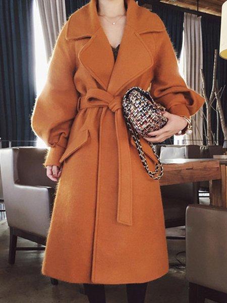 Orange Long Sleeve Coat
