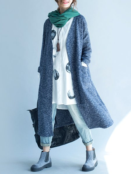 Casual Long Sleeve Cotton Coat
