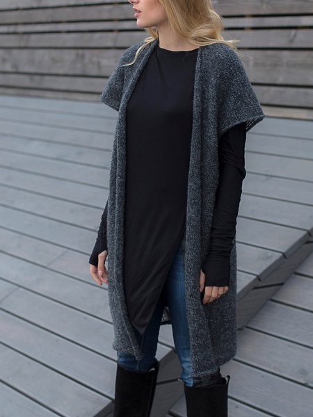 Long Sleeve Knitted Casual Cardigan