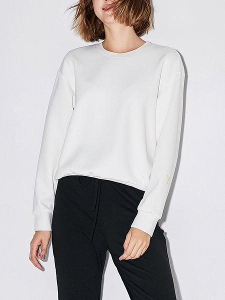 Casual Crew Neck Printed Top
